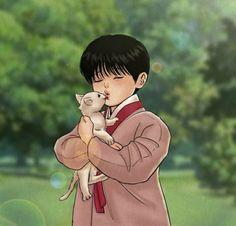 Cute Anime Pics, Cool Anime Guys, Otaku Anime, Anime Art, Bl Webtoon, Hello Cute, Chibi Wallpaper, Night Portrait, Cute Couples Kissing