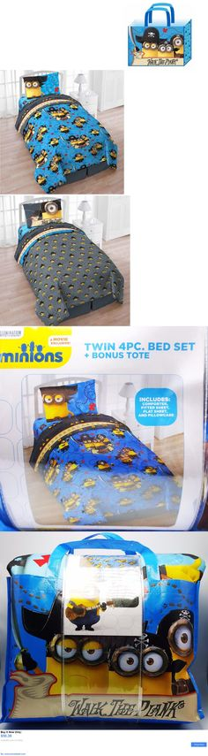 Kids Bedding: Minions Twin Comforter Bed Sheet Set Reversible Walk The Plank With Tote 4Pc New BUY IT NOW ONLY: $50.39 #priceabateKidsBedding OR #priceabate