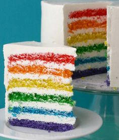 Rainbow Cake!  (My friend is going to make me this)