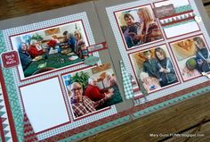 Mary Gunn FUNN - Jingle from Close To My Heart made a cute layout for Christmas memories.