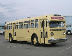 #730 1957 GMC TDH-4512.Restored externally by TRAMS in BC Electric livery.Interior converted to mobile theater and historic display vehicle.