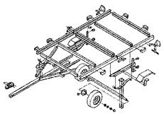 Canada's Source for folding utility trailers & accessories Trailer Kits, Trailer Plans, Trailer Build, Utility Trailer Accessories, Folding Utility Trailer, 8x8 Shed, Shed House Plans, Receiver Hitch, Kayak Camping