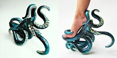 Stunning Tentacled High Heels - Perfect for Ursula (Disney's The Little Mermaid) cosplay