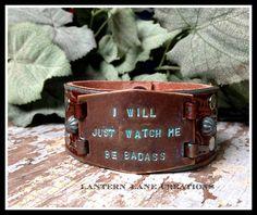 custom ordered leather cuff