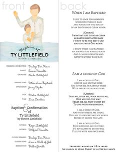 sample lds baptism programs | just b.CAUSE