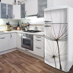 Door Decals Give Life to Your Home Design wall floor ideas home design amazing ideas Clever Kitchen Ideas, Kitchen Hacks, Wall Design, House Design, Do It Yourself Design, White Appliances, Removable Wall Decals, Vinyl Decals, Cool Walls