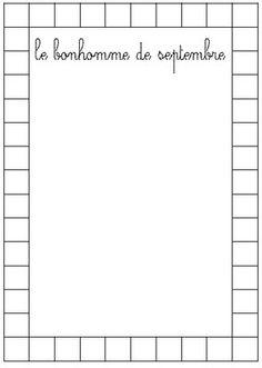 le bonhomme du mois de la classe de Laurène Grande Section, Petite Section, Ms Gs, Alphabet, Math Equations, Education, Voici, Montessori, Reception