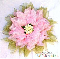 Spring Burlap Pink Flower Wreath, Spring Flower Wreath, Pink Burlap Flower Wreath, Spring Hydrangea Wreath, Front Door Wreath, Spring Wreath by WishingWellWreaths on Etsy wishingwellwreaths.etsy.com