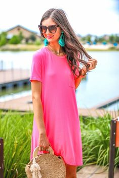 Shop Jess Lea Boutique Maddy T-Shirt Dress  #jesslea #jessleaboutique #jessleastyle #casualstyle #momstyle #casualoutfit #easyoutfit #ootd #boutique #boutiquestyle #comfystyle #falloutfits #comfydress #comfyoption #fallinspo Pink T Shirt Dress, Navy Floral Maxi Dress, Tee Dress, Dress Shirts For Women, Casual Dresses For Women, Leopard Print Scarf, Spandex Dress, Comfy Dresses, Ootd