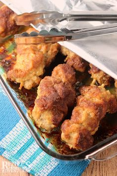 10 Most Misleading Foods That We Imagined Were Being Nutritious! City Chicken Renee's Kitchen Adventures - Easy Comfort Food Of The Midwest Made With Pork Sirloin Cubes And Baked In The Oven For Dinner Or Lunch. Baked Chicken Recipes, Pork Recipes, Baking Recipes, Pork Sirloin Recipes, Smoker Recipes, Salad Recipes, Recipies, Healthy Recipes, Pork Dishes