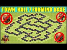 Clash of Clans Town Hall 7 Heart Base ♦ Valentine's Day TH7 Heart Base Defense 3 Air Defense Layout - YouTube