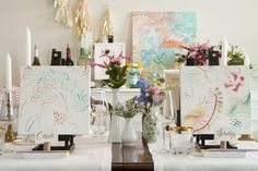 Paint party: http://www.stylemepretty.com/living/2015/03/06/wine-and-painting-party-inspiration/ | Photography: Sabrina Nohling - http://www.sabrinanohlingphotography.com/