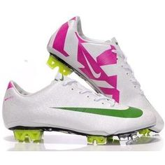 http://www.asneakers4u.com White Green Pink Nike Mercurial Vapor Superfly III FG Safari   New SoccerFootball Cleats