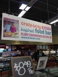The Crazy Sexy Kitchen inspired food bar at Whole Foods in Las Vegas! #vegan #recipes #kriscarr #CrazySexyKitchen