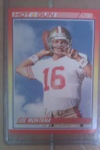 Joe Montana San Fransisco 49ers 1990 NFL TOP GUN Score card. *Free Shipping* http://yardsellr.com/yardsale/Erik-Marx-416944