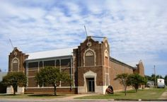 Mangum High school building