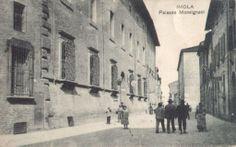 Palazzo Monsignani (dove nacque il sindaco Vespignani) nei primi anni del 1900 (Imola evoluzione della città)