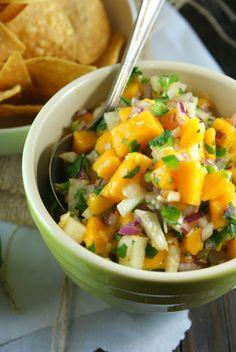 Authentic Suburban Gourmet: Mango Jicama Salsa | Blogger C.L.U.E. Society