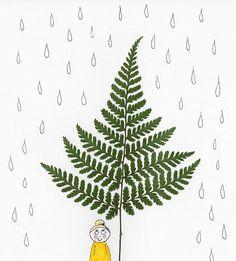 Smiling in the rain 💛