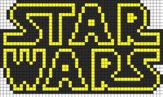 Star Wars Logo Perler Bead Pattern | Bead Sprites | Misc Fuse Bead Patterns by clara