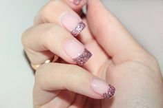 Sparkling nails, how-to