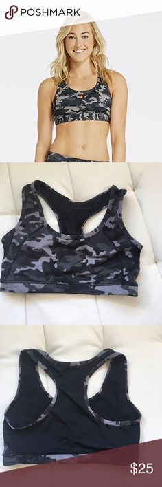 e8ec6bb89d08c Fabletics camo sports bra Camo sports bra - model is to show fit and style.  There is NO HOLE in the sports bra!