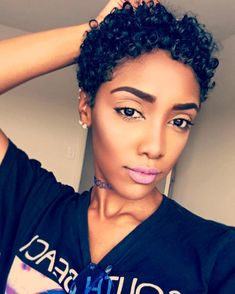 Beautiful short curly hairstyles wigs for black women lace front wigs human hair wigs african american wigs buy now Short Sassy Hair, Short Curls, Short Hair Cuts, Natural Hair Cuts, Natural Hair Styles, Twa Hairstyles, Twa Haircuts, Love Hair, Hair Dos