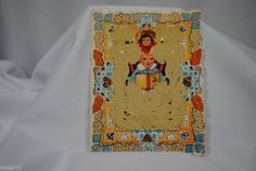 vtg valentine card paper Whitney made layered lace Pirate Jim unique