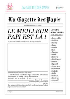 La gazette des papas - Parent Resources, Tips, and Advice Fathers Day Quotes, Fathers Day Crafts, Cadeau Grand Parents, Diy For Kids, Crafts For Kids, Mother And Father, Father Sday, Pinterest Blog, Grandparents