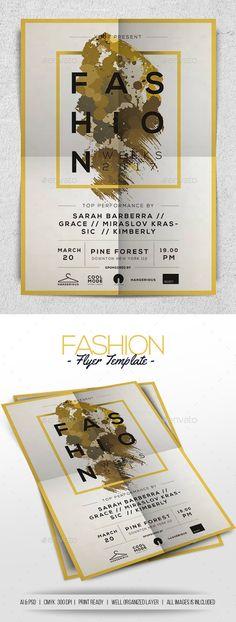 Fashion Flyer Template PSD, AI Illustrator