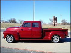 1953 Chevy custom built extended cab with 4 doors; rear suicide doors & 1968 International Harvester Crew Cab | Vintage Pickup Crew Cab ... Pezcame.Com
