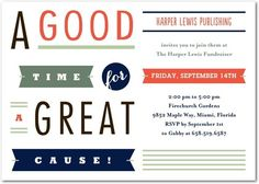 With Great Cause - Corporate Event Invitations - Petite Alma - Blaze - Orange : Front