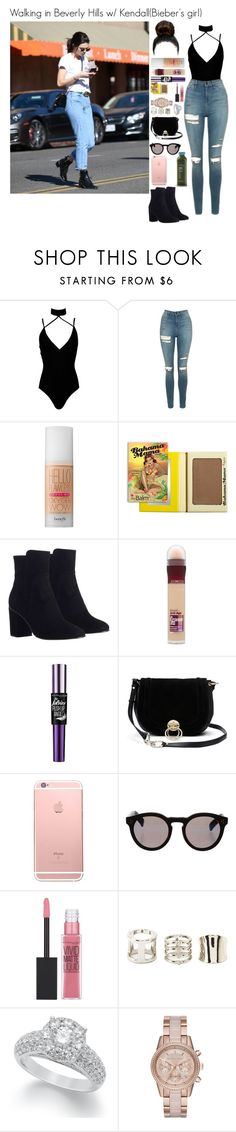 """Walking in Beverly Hills w/ Kendall(Bieber's girl)"" by tatabranquinha ❤ liked on Polyvore featuring beauty, Boohoo, Topshop, Benefit, Zimmermann, Maybelline, Diane Von Furstenberg, Illesteva, Charlotte Russe and MICHAEL Michael Kors"