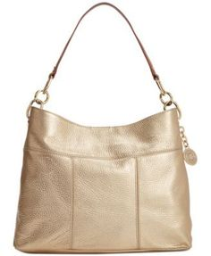TOMMY HILFIGER Tommy Hilfiger Th Signature Leather Small Hobo. #tommyhilfiger #bags #shoulder bags #leather #hobo #