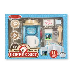 Wooden Brew and Serve Coffee Set Toy | Melissa and Doug