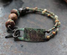 Runic bracelet Love rustic amulet bracelet pagan rune by solekoru