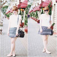 Loja Emme Skirt, Oasap Bag, Tutu Sapatilhas Flats
