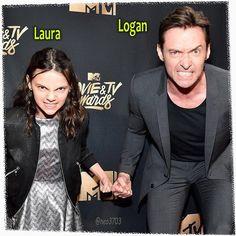 Dane Keen and Hugh Jackman All New Wolverine, Logan Wolverine, Marvel Dc, Marvel Comics, Laura Movie, Logan Movies, Wolverine Costume, Wolverines, Hugh Jackman