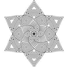 Mandala Vorlagen - Stern und Blume in einem Design