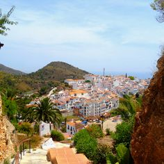 White village of frigiliana  , Spain