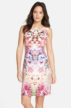 Chetta B Floral Print Sheath Dress available at #Nordstrom