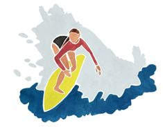 Australiana — Sarah C illustration Sarah C, Australian Beach, Seaside, Watercolour, Art Projects, Tape, Surfing, Concept, Disney Characters