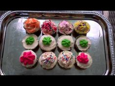 Dog Birthday Party Dog Cupcakes Featured On Good Morning America decorated with Fido's Frosting! Yummy!