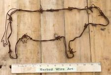 Cow ~ Rodeo Cowboy Horse Folk Kitchen Wall Farm Sculpture by Barbed Wire Art Barb Wire Crafts, Metal Crafts, Wood Crafts, Recycled Crafts, Farm Crafts, Country Crafts, Crafts To Do, Diy Crafts, Horseshoe Crafts