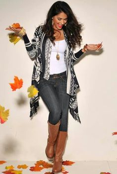 ♥ tribal, aztec sweater, fall , boots, cozy, wrap