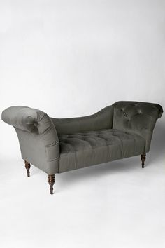 Shop Antoinette Fainting Sofa - Carbon at Urban Outfitters today. : button tufted chaise settee - Sectionals, Sofas & Couches