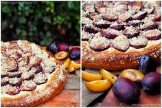Koláč s tvarohem a švestkama, Pie with curd and plumps www. Pepperoni, Pizza, Food, Essen, Meals, Yemek, Eten