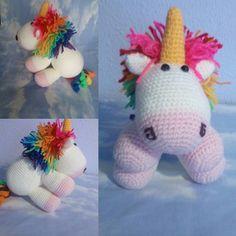 ovilladasanturtzi:: Unicornio hecho con el patrón de One dog woof #handmade #crochet #amigurumi #unicornio #cute #Ovillada