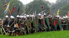 Battle of Hastings re-enactment Medieval Knight, Medieval Fantasy, Norman Knight, Renaissance, Medieval Times, 11th Century, Fantasy Weapons, History Photos, Anglo Saxon