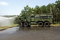 Otis Army TFFT (2) 2007 Oshkosh / Pierce TFFT 1000/1000/30A/60B Structural, crash, wildland, hazmat fire truck http://setcomcorp.com/1310intercom.html